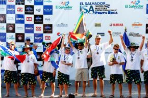 Proudly cheering Team South Africa that came 3rd in the ISA World Masters surfing event in El Salvador yesterday