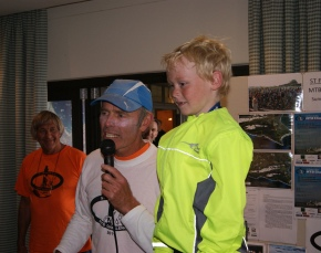 A cycling champ in the making...7 year-old Carlo Coetzer who cycled the whole 35kms of the gruelling MTB race at the St Francis Links estate today.