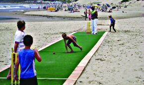 Beach Cricket with the Eastern Cape's Chevrolet Warriors cricket team today and tomorrow. Watch or join in by registering to play.