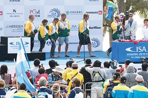 SA Surfing Team in China at prize giving