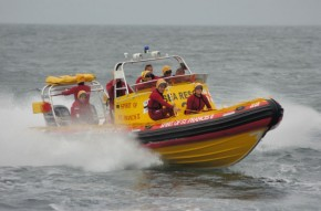 NSRI St Francis volunteer duty crew racing to evacuate an ill fisherman off a chokka boat today