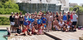 St Francis participants in yesterday's Swimarathon  attempt to beat the Guiness World Record