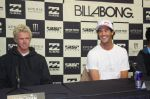 Defending champion, Jordy Smith from Durban, with John John Florence of Hawaii , left.