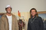 Jordy, left, with South African surfer, Sean Holmes.