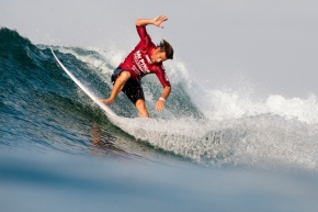 Image caption: ASP World No. 24 Travis Logie (Durban, ZAF) lead the South African charge on the opening day of competition at the Mr Price Pro Ballito. © Cestari/ Mr Price