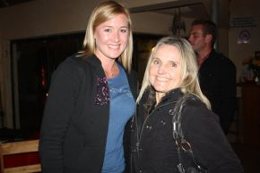 Melissa Glenni,e owner of the ShowMe St Francis franchise, with Maria, owner of the gorgeous range of Shakti Shanti yoga wear.