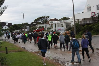 This morning's start of Enid Pretorius' 'Walk or Run' to the Cape St Francis lighthouse - and back for the brave!