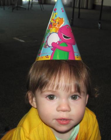 Today we are 1!! James Robert Menhnnet at his first birthday party on 14 September 2012. (Photo: St Francis Links).