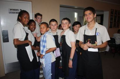 College kids who were the waitrons at their Bingo fund raising event last night.