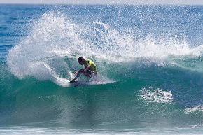 Jordy Smith of Durban, South Africa (pictured) won his opening heat at the Hurley Pro Trestles defeating fellow South African Travis Logie (ZAF) and Heitor Alves (BRA) to advance into round three.