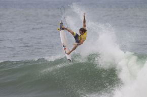 Jordy Smith of Cape Town, South Africa (pictured) has won the Billabong Rio Pro defeating Adriano De Souza of Brasil in the final on Sunday May 19, 2013. Smith's result today sees him jump into the World No. 2 position on the ASP ratings.  CREDIT: ASP/ Kirstin PHOTOGRAPHER: Kirstin Scholtz