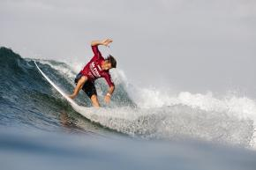 Travis Logie of Durban, South Africa eyes the top spot in this year's Mr Price Pro Ballito from 4-6 July. Photo: © Mr Price/ Cestari