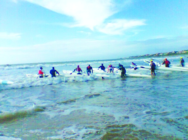 The start of the surfski challenge yesterday. Photo: Donna