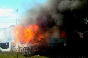Fire in Sea Vista this morning. Photo: Craig Briggs.