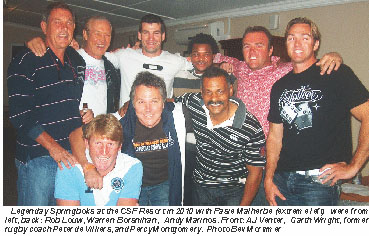 Legendary Springbok Rugby Players In Cape St Francis St Francis Chronicle