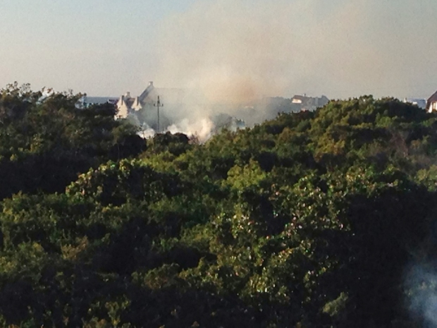 One of the fires in the bushes. Photo: Liezl Clause