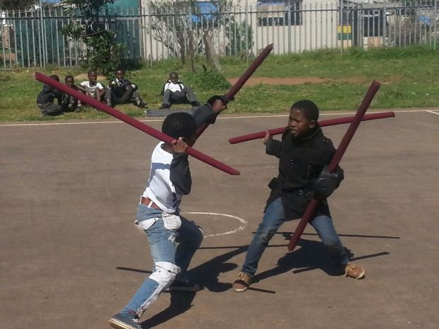 Stick fighting demonstrations