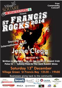 St francis Rocks Poster
