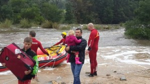 Photo: NSRI NSRI Jeffreys Bay rescued a family of six trapped by swollen river at Hankey today