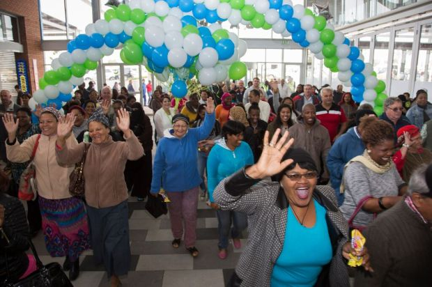Excited shoppers pour into Baywest Mall on opening day in Port Elizabeth yesterday.