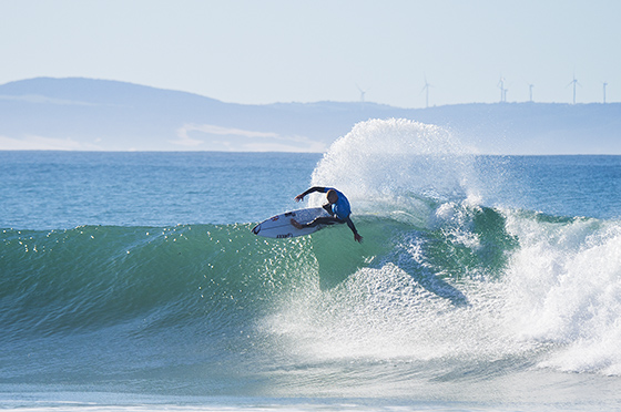 Mick Fanning of Gold Coast, Australia (pictured) winning his Round 5 heat to advance into the Quarterfinals at the JBay Open on Sunday July 19, 2015.