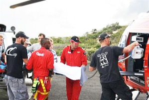 surfer airlifted to hospital