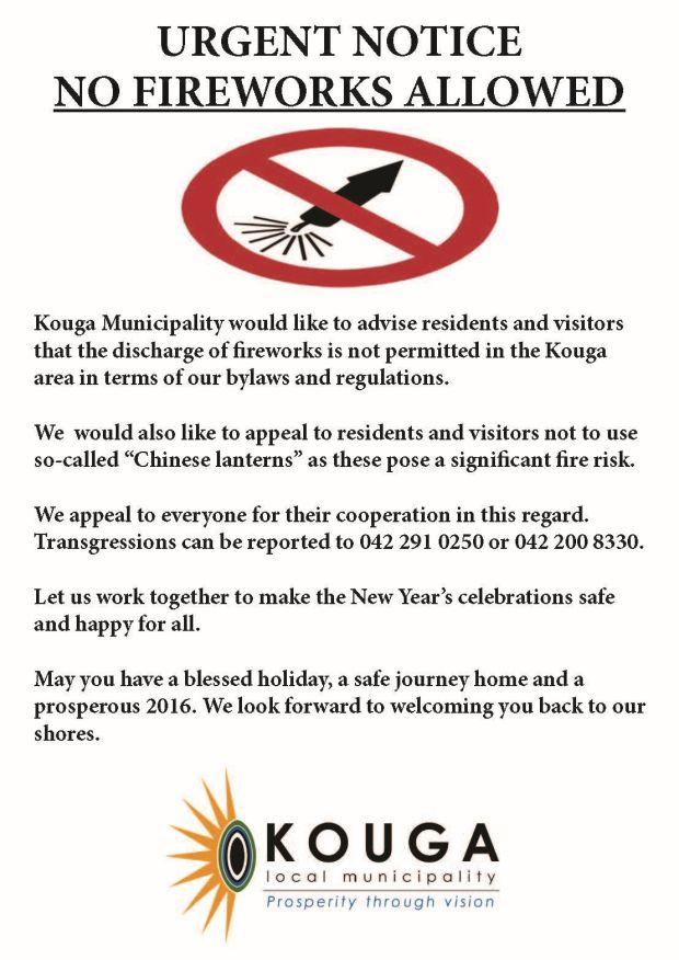Kouga No Fireworks Festive Season 2015