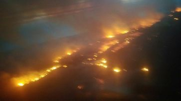 fire from the air of airpark to csf on the ridge