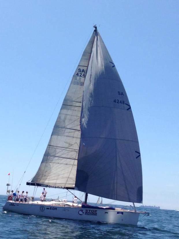 damaged  yacht